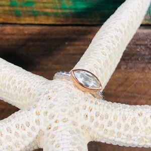 Genuine Green Amethyst Ring